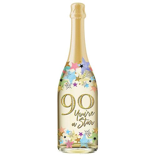 Pictura Champagne Bottle Sound Card - PC-0210-059 70TH BIRTHDAY PASTEL BURST