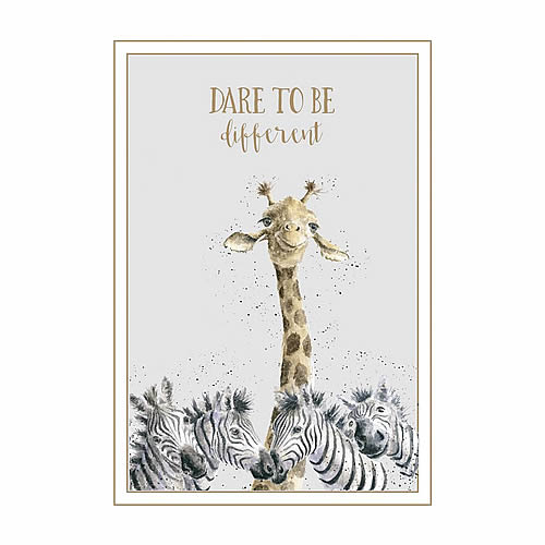 Wrendale Designs Greeting Card BE A FLAMINGO WD-C-AWW004